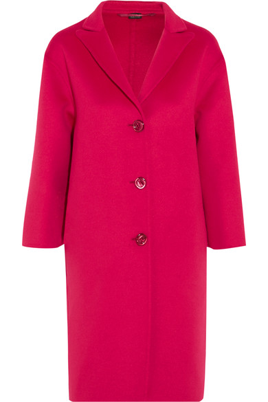 GUCCI OVERSIZED PINK WOOL BLEND COAT