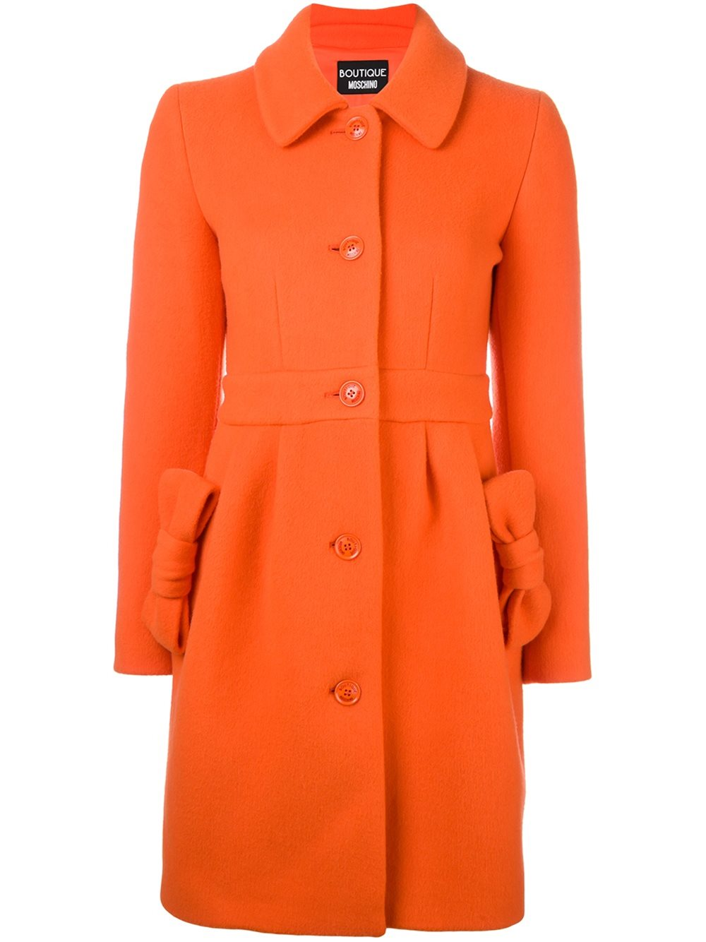 BOUTIQUE MOSCHINO ORAGNGE BOW COAT