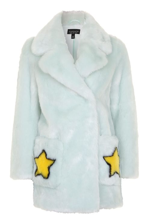 TOPSHOP STAR MOTIF COAT