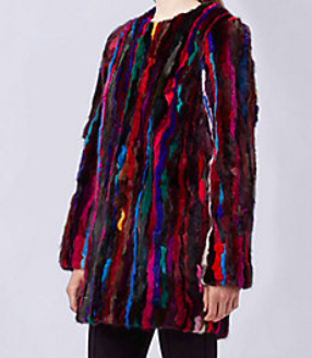 DVF MULTI-COLORED COAT