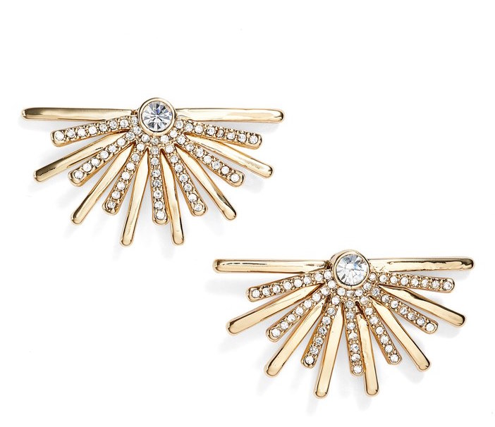 JENNY PACKMAN BURST STUD EARRINGS