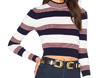 AGAIN 'WINONA' CROPPED SWEATER