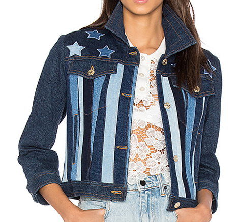 HILFIGER COLLECTION PATCHWORK DENIM JACKET