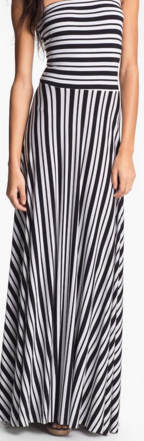FELICITY & CO STRIPES MAXI DRESS