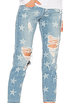 ETIENNE MARCEL STAR DISTRESSED BOYFRIEND JEANS