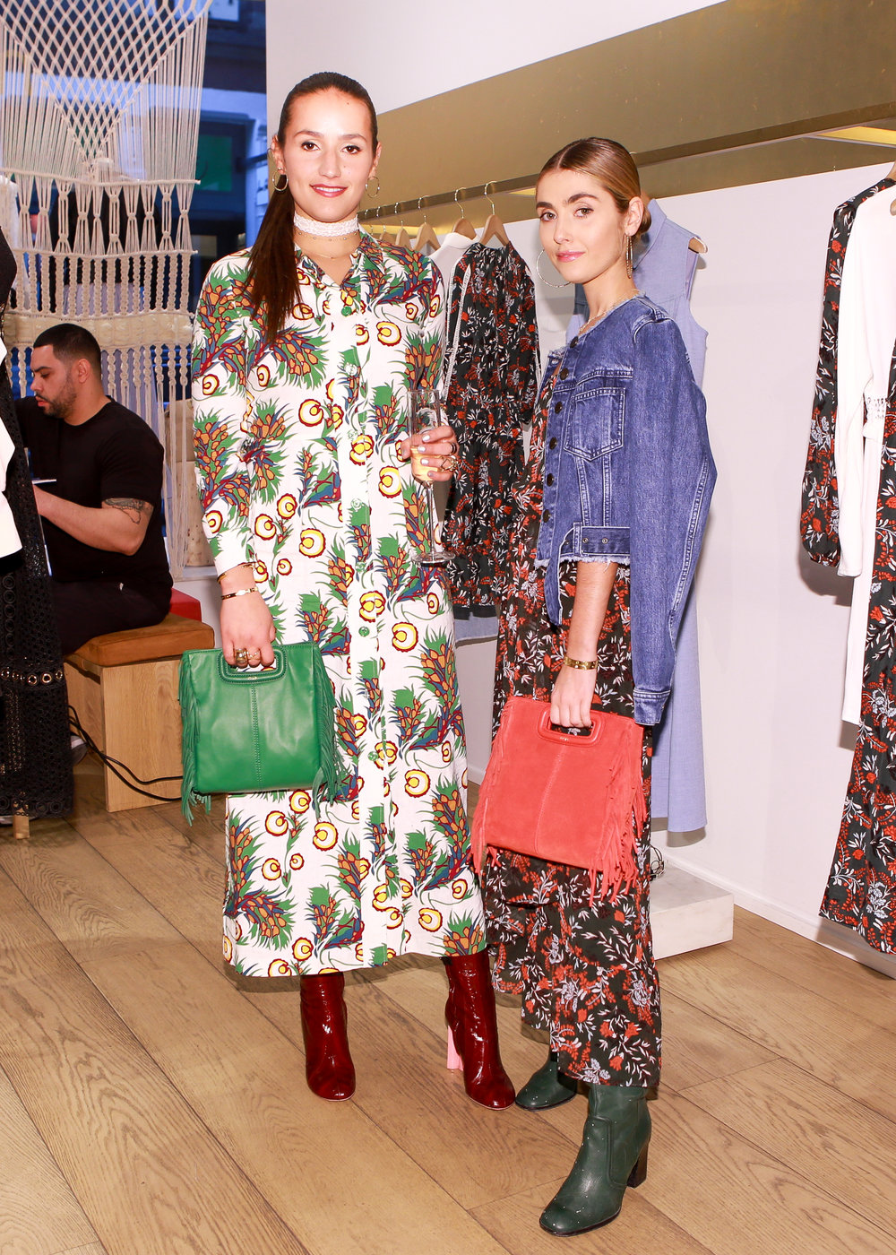 SOPHIE AND CHARLOTTE BICKLEY YIN 2MY YANG SISTER FASHION BLOGGERS NYC MAJE EVENT POST 1