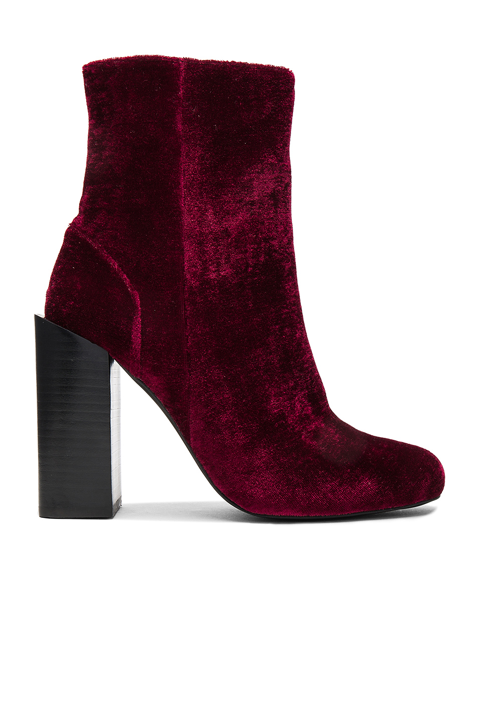 JEFFREY CAMPBELL DARK RED 'STRATFORD' BOOTIES