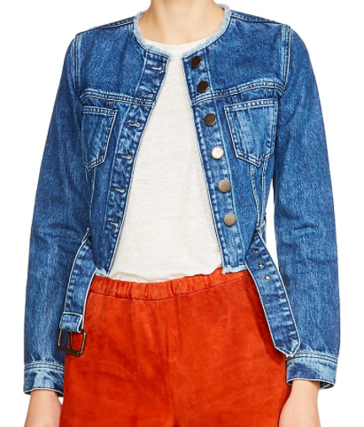 MAJE 'VENJA' DENIM CROP JACKET
