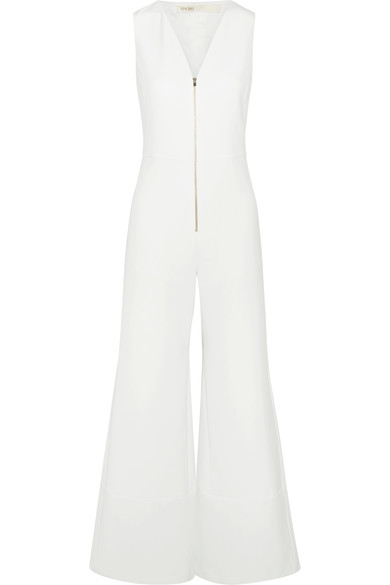 MAJE STRETCH CADY WIDE LEG JUMPSUIT