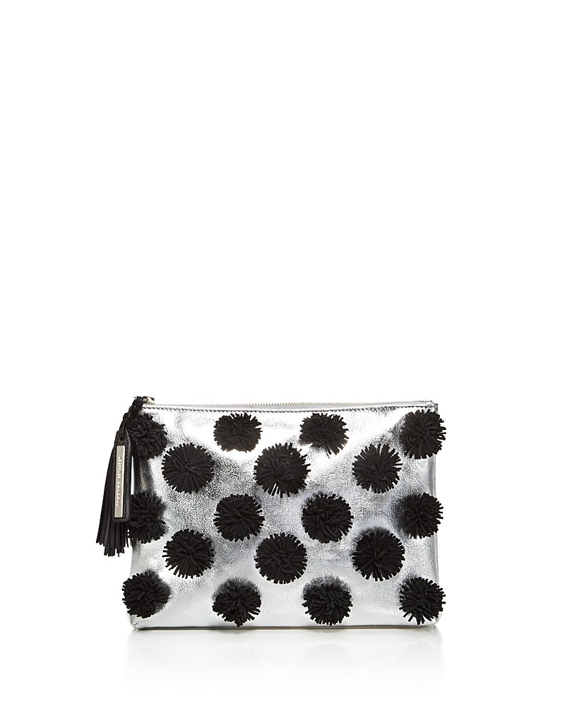 LOEFFLER RANDALL 'METALLIC TASSEL' LEATHER POUCH