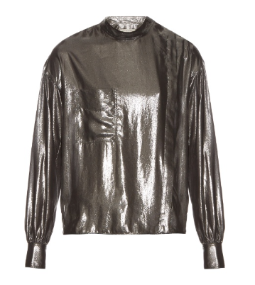 ISABEL MARANT ETOILE 'MELVA' LONG SLEEVED LAME SHIRT