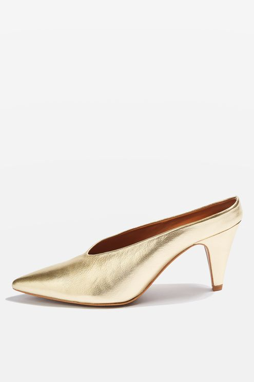 TOPSHOP 'JUICY V-CUT' MULES