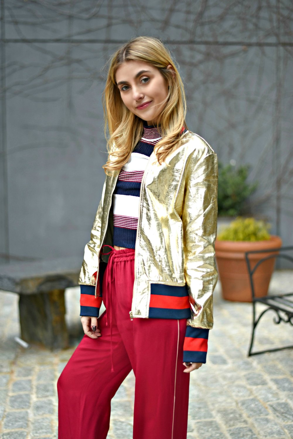 CHARLOTTE BICKLEY FASHION SISTER BLOGGERS NYC METALLIC POST
