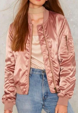 COTTON CANDAY LA SILK BOMBER JACKET