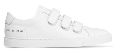 COMMON PROJECTS ACHILLIES THREE STRAP LEATHER SNEAKERS