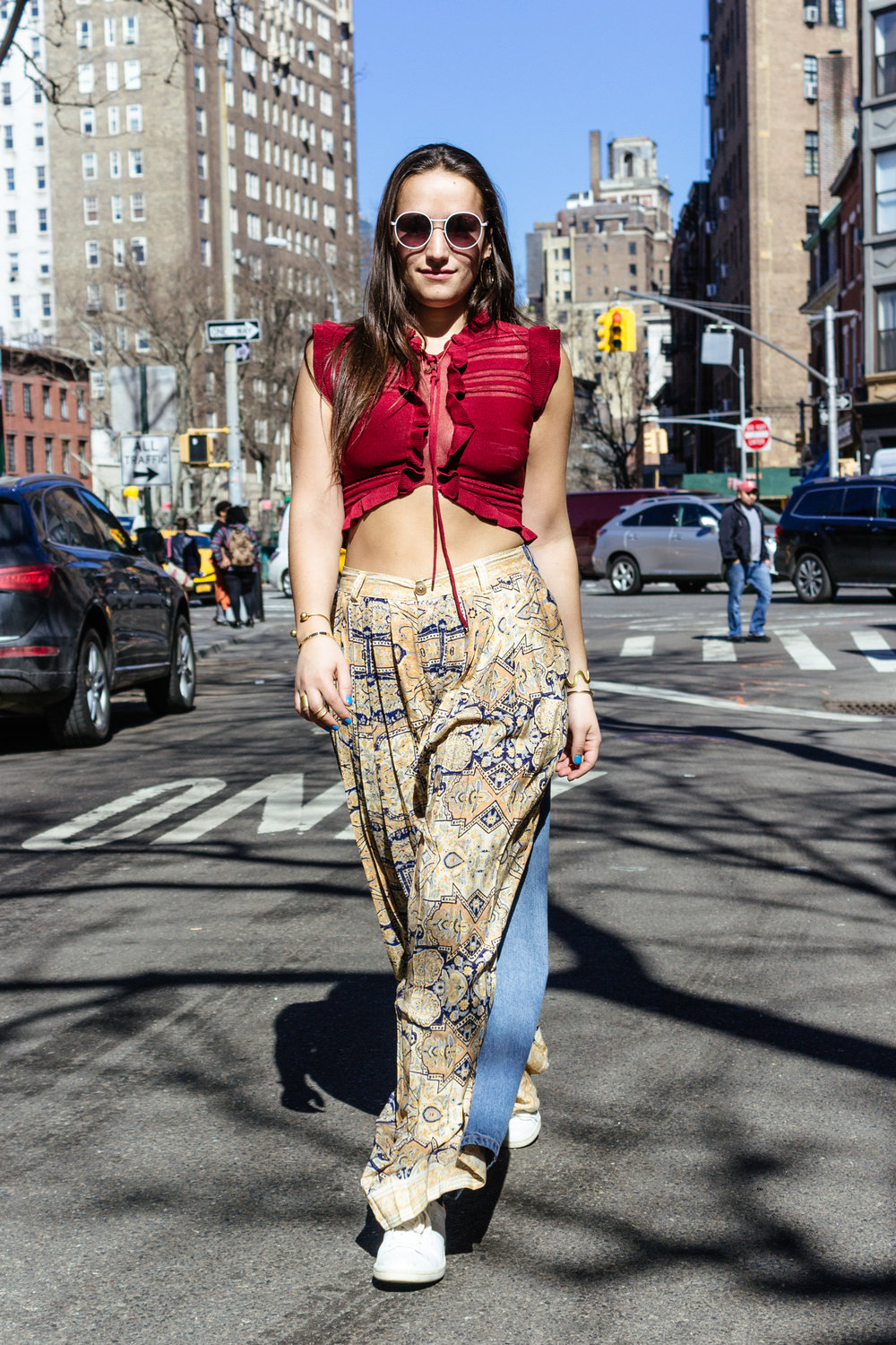 SOPHIE BICKLEY YIN 2MY YANG SISTER FASHION BLOGGERS NYC FREE PEOPLE DANCE PARTY PANTS POST