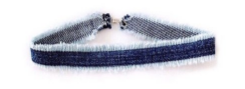 CHOKED BY A THREAD DENIM CHOKER