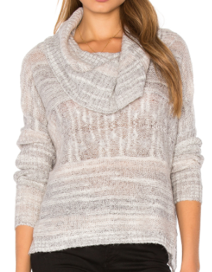 LA MADE JODY COWL NECK SWEATER