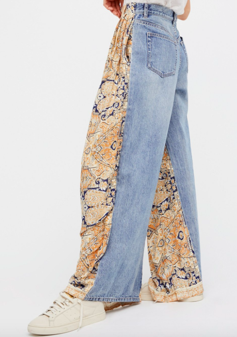 FREE PEOPLE 'COMING AND GOING' WIDE LEG JEAN PANTS
