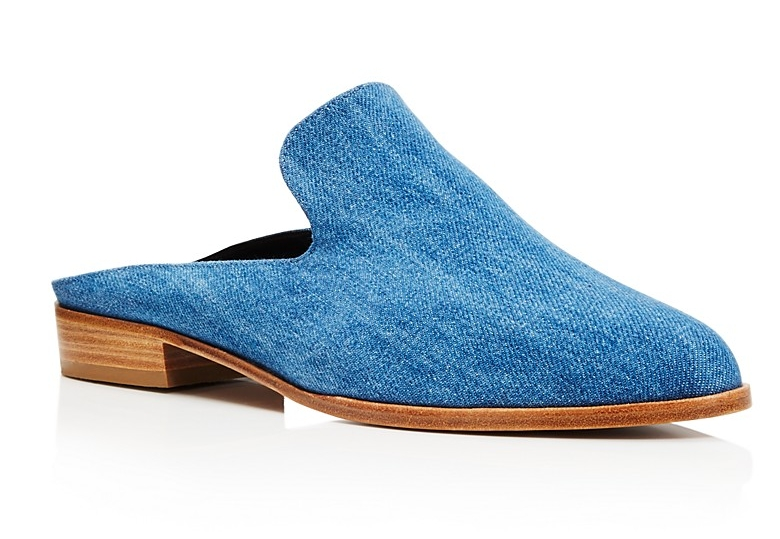 ROBERT CLERGERIE ALICE DENIM MULES