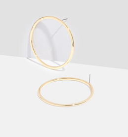 MADEWELL HOOP POST EARRINGS