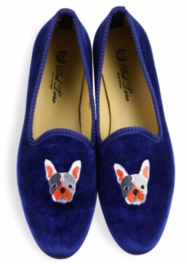 DEL TORO BULLDOG VELVET SMOKING LOAFERS