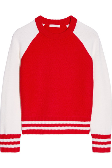 RAG & BONE 'JANA' RED PULLOVER