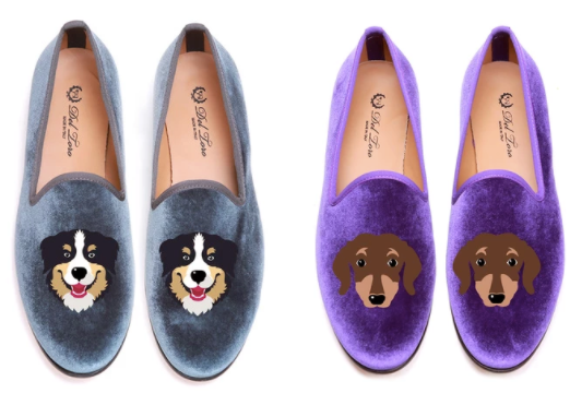 DEL TORO CUSTOMIZED VELVET DOG SHOES