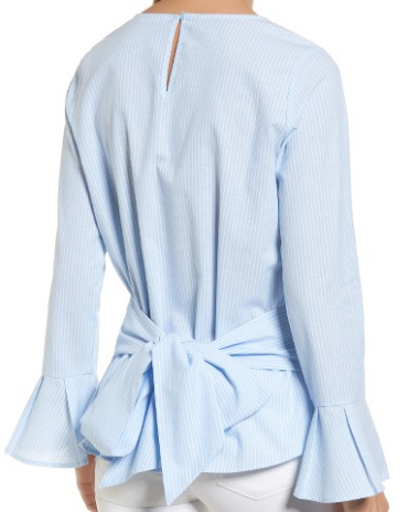 PLEIONE TIE BACK WRAP BLOUSE