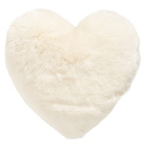 vNORDSTROM AT HOME 'CUDDLE UP' FAUX FUR HEART ACCENT PILLOW