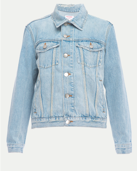 FRAME DENIM RIGID RE-RELEASE DISTRESSED JACKET