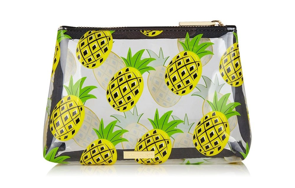 TOPSHOP ZESTY PINEAPPLE MAKEUP BAG BY SKINNYDIP