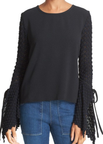 SEE BY CHLOE 'KNIT BELL SLEEVE' TOP