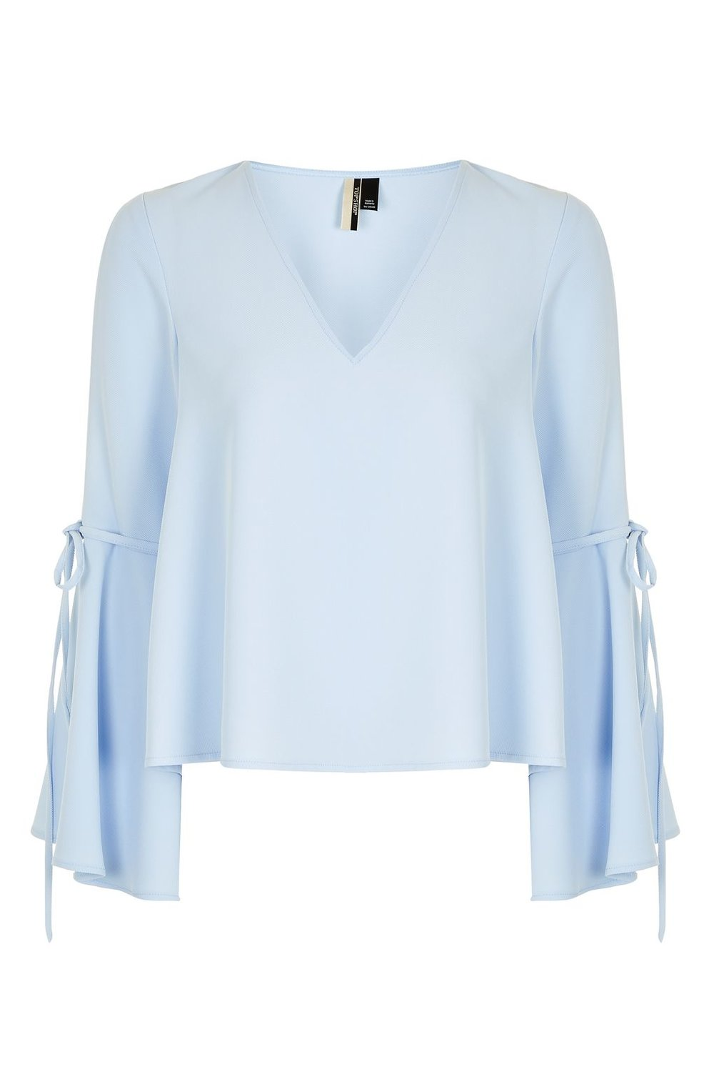 TOP SHOP 'TRUMPET SLEEVE' BLOUSE