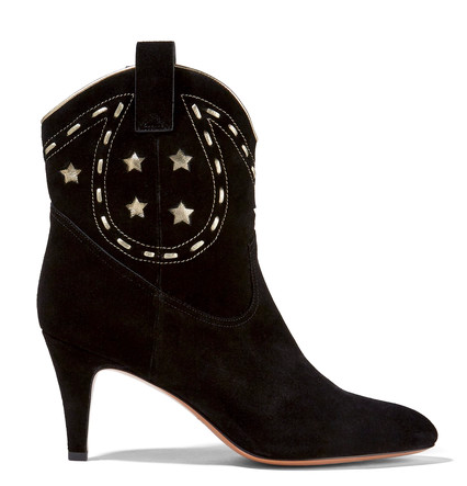 MARC JACOBS 'GEORGIA' LEATHER-TRIMMED ANKLE BOOTS