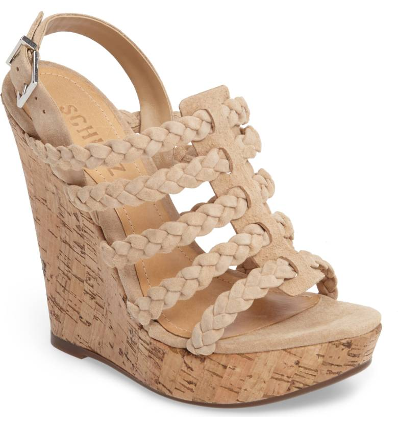 SCHUTZ 'ABIGAILLY' WEDGE SANDALS
