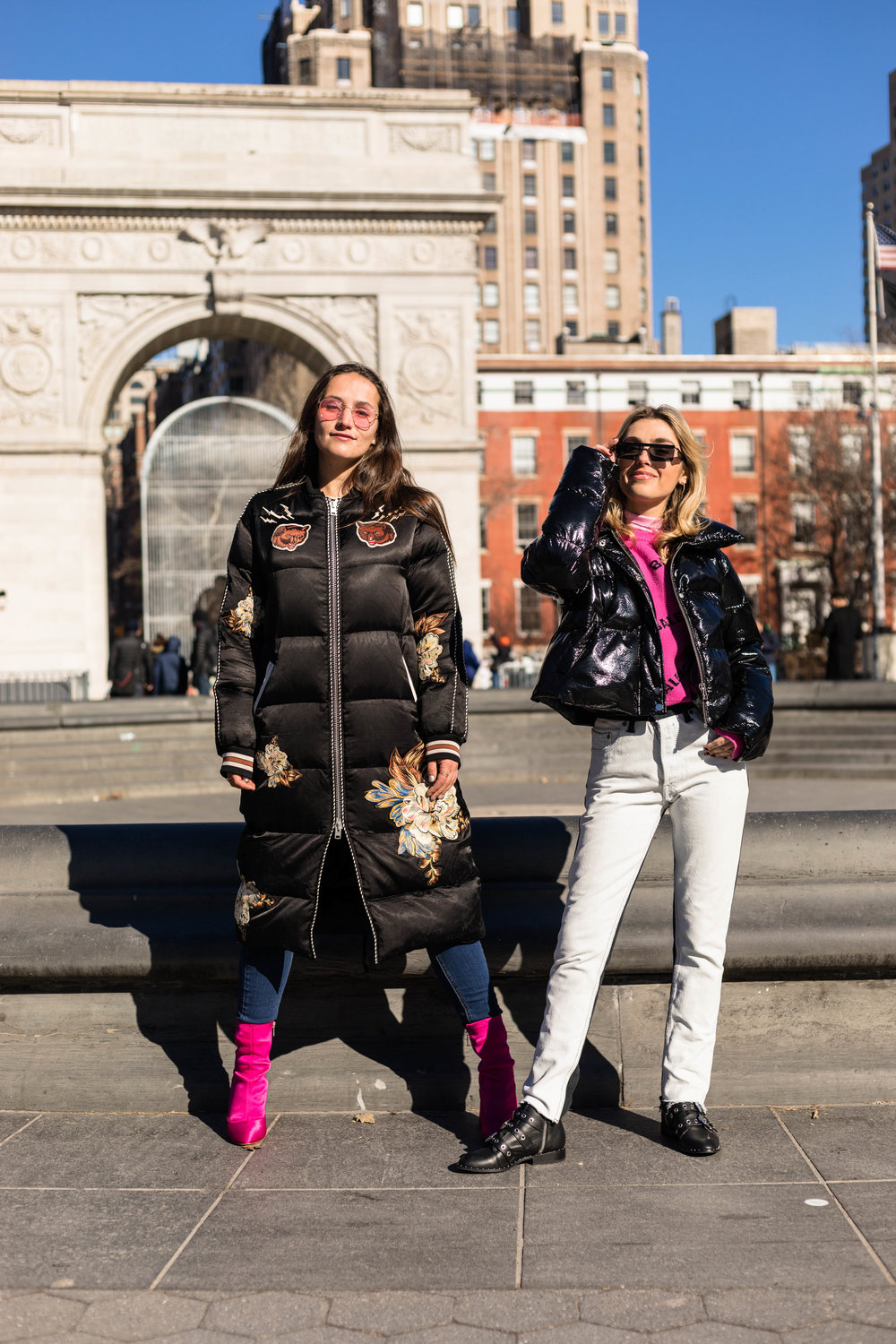 YIN 2MY YANG SOPHIE & CHARLOTTE BICKLEY BLOGGER SISTERS NYC PUFFER JACKET POST JANUARY 2018 4.jpg