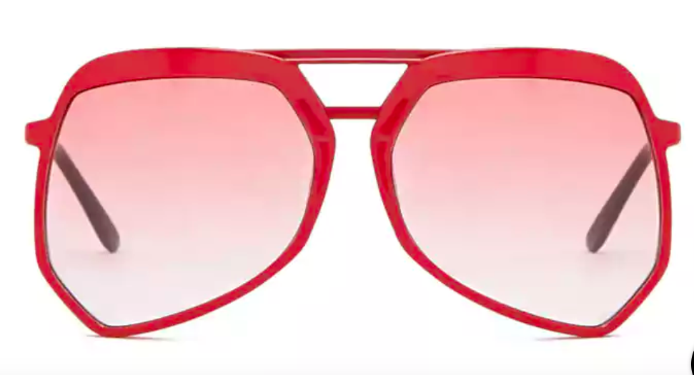 RED TINTED SUNGLASSES