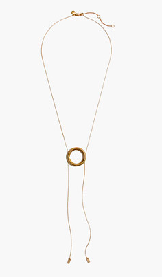 Madewell Sliding Ring Bobo Necklace