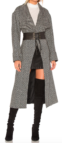 LOVERS  + FRIENDS  x REVOLVE HOUNDSTOOTH 'MADDIE' LONG COAT