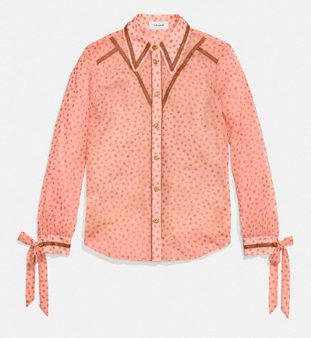 COACH STAR PRINT BLOUSE