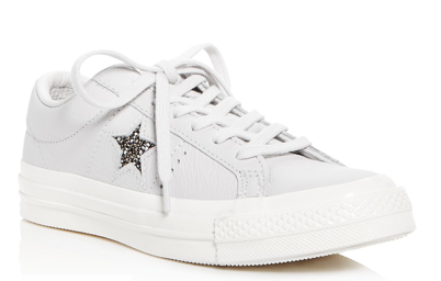 CONVERSE WOMEN'S ONE STAR LEATHER LACE UP SNEAKER