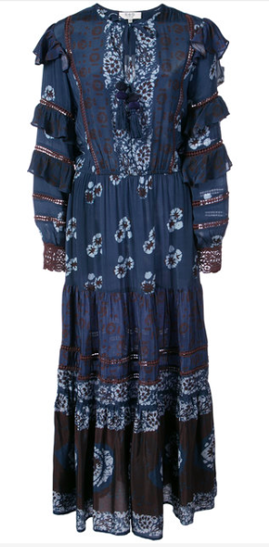 SEA PRINTED MAXI DRESS