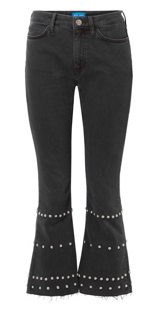 M.I.H JEANS MARTY CROPPED STUDDED JEANS