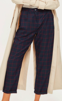 TOYSHOP WINDOW CHECK TAPERED PANTS