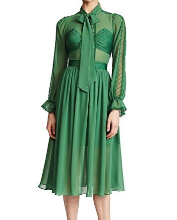 SELF PORTRAIT CHIFFON BOW DRESS
