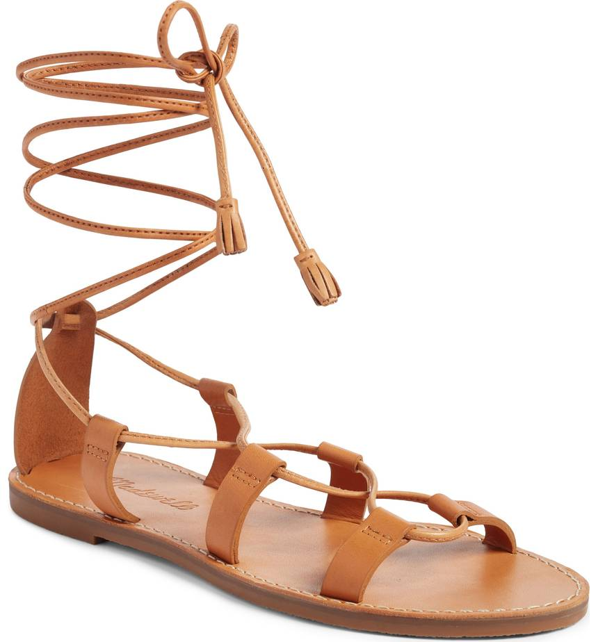 MADEWELL WRAP UP SANDALS