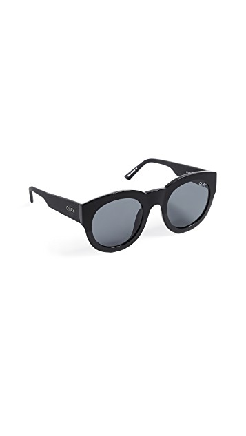 QUAY IF ONLY BLACK SUNGLASSES