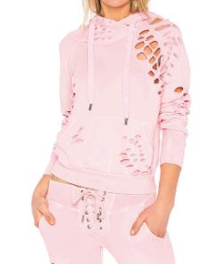 NSF x REVOLVE Maddox Destroyed Hoodie Sweatshirt