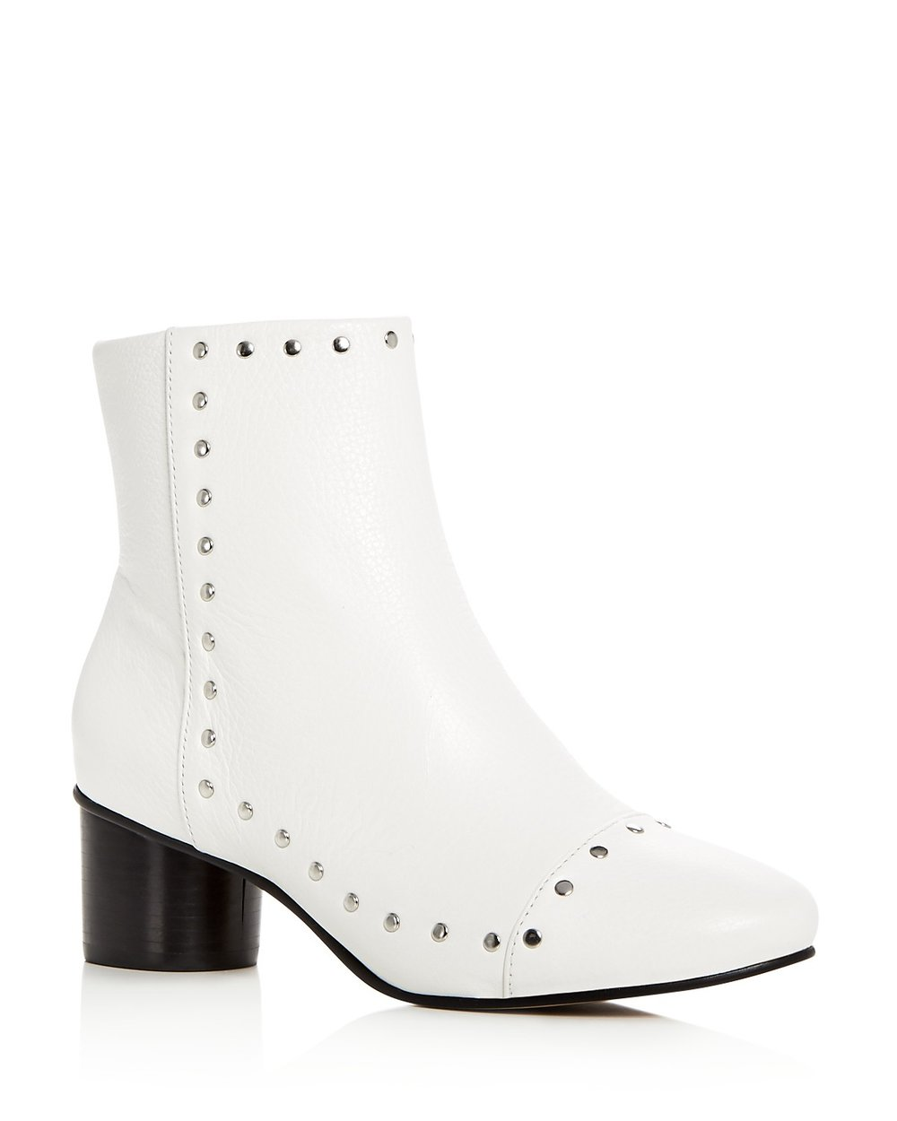 REBECCA MINKOFF STUDDED WHITE BOOTIES